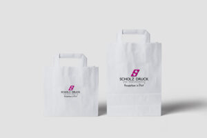 Papiertüte bedruckt scholz druck dortmund, papiertüten bedrucken lassen Produktbild